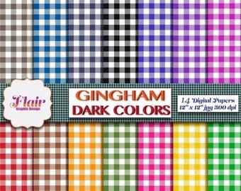 Gingham Digital Paper Rainbow Background Gingham Scrapbook Paper Colorful Gingham Background Rainbow Digital Paper Gingham Papers From Sweetdigipapers On Etsy Studio