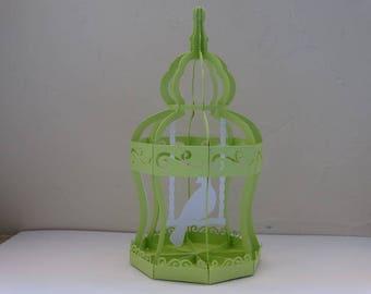 Bird cage - bird cage theme lime green