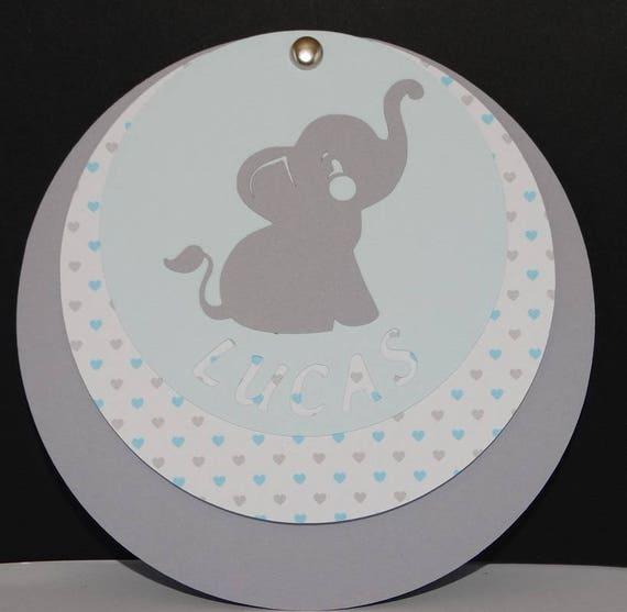 Bevorzugt Circle elephant birth announcement PA52