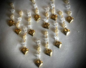 hearts and beads pendants
