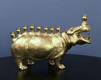 Menoppopotamus: Hippo Menorah