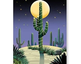 Desert Saguaro Holiday Card - 18 Cards & Envelopes - 40017