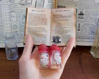 Mini Polyjuice Potion Prop Replica Book Ingredients Hogwarts Harry Potter Transformation Hermione Granger Library Moste Potente Potions Tiny