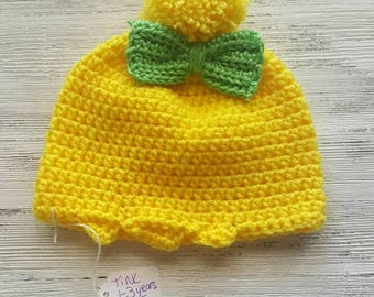 Tinkerbell costume hat, ready to ship sale 1-3 years