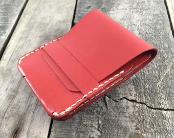Kangaroo leather wallet Minimalist leather wallet Leather card holder Personalised leather wallet Front pocket wallet Thin leather wallet