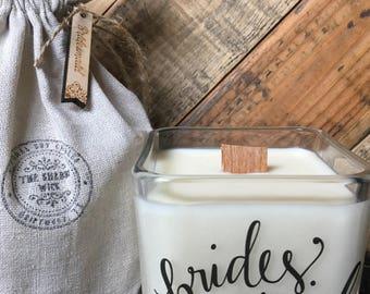 Bridesmaid Candle - Bridesmaid Gift - Bridesmaid Proposal Candle - Wedding Party Candles. Fast shipping