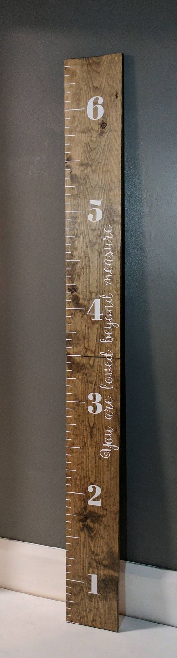 Wood growth chart ruler custom growth chart ruler wooden like this item geenschuldenfo Choice Image
