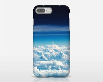 Clouds Phone Case, Blue Cell Phone Art, Sky Phone Cover, Phone Accessories, Mobile Phone Covers, Photo Cell Case, Tough Phone Case