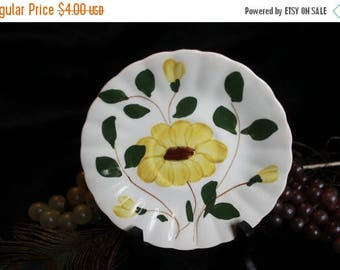 Summer Sun Sale Blue Ridge Potteries Yellow Flowers Saucer - Yellow Nocturne Pattern