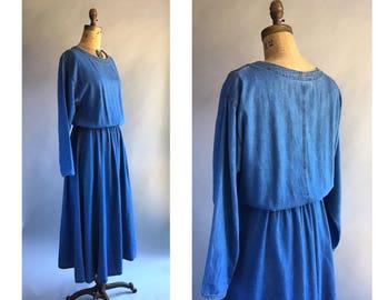 1990's Soft Denim Maxi Dress