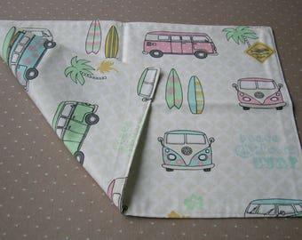 Placemats Volkswagen Bus, placemats VW, Gobelin, unique