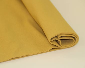 Organic Ribbing - Gold - elvelyckan  Organic Cotton ribbing Cuffing UK Seller