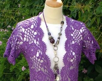 Crochet PATTERN - Crochet Bolero Pattern - Crochet Shrug Pattern - Crochet Pattern for Women