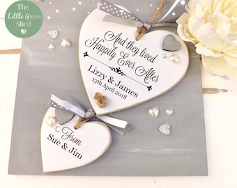 Wedding Gift Persnalised Heart Anniversary Plaque Pretty Keepsake