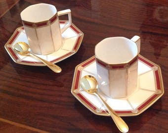 Yamaka Tea Time Collection Pair of Cups and Saucers Vintage