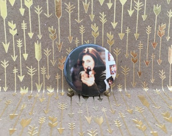 Clarice Starling, Silence of the Lambs, Jodie Foster, 1.5 inch pin back button, 37 mm pinback button