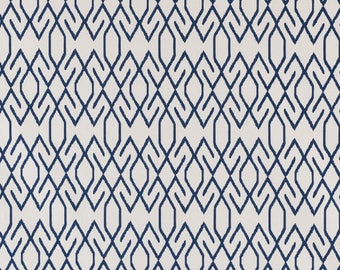 Lacefield Zoe Navy, Fabric By The Yard, Lacefield Fabrics