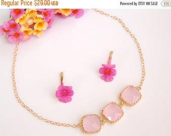 SALE Wedding Jewelry, Ice Pink Bracelet,Soft Pink Gold Filled Bracelet, Bridesmaid Jewelry, Bridesmaid Bracelet, Bridesmaids Gift, Wedding G