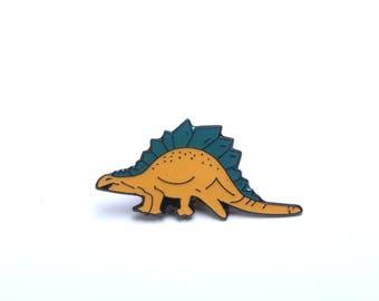 Lapel pin, enamel pin, dinosaur lapel pin,Stegosaurus, jurassic pins