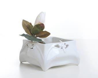 White plant holder, white plant pot, indoor garden planter, cactus planter pot,planter indoor small, indoor plant holder, indoor planter