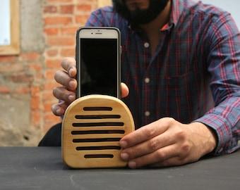 PEMBI wooden speaker, phone speaker, iPhone 6/6s speaker, iPhone loudspeakers, iPod touch speaker, father's day gift