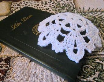 Snowflake Kippah / white