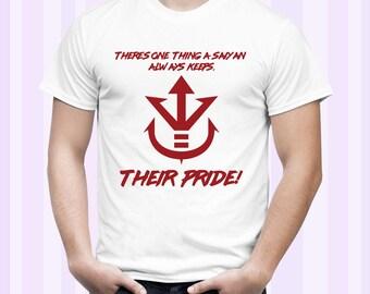 Vegeta Sayian Pride Quote Dragonball Z, GT and Super Men Shirt