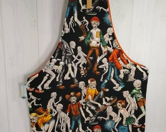 Zombies Zombis Zombie Knitting Tote, Knitting Project Bag, Medium Wrist Tote, Reversible Tote, Market Bag, Knitting Sack WTM0024