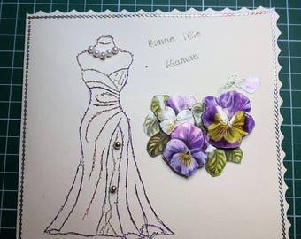 Dresses for a MOM - hand made card