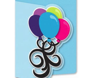 Bunch of Balloons for You , Birthday , Adults , Kids , Teens , Pop-Dot , PaperCut ,