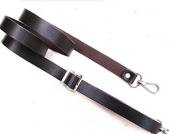 handle strap adjustable brown leather 2 pieces.