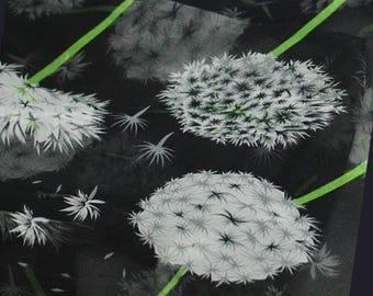 fabric white black chiffon Pissanlit 5 m