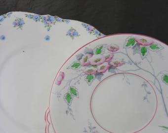 Pair Vintage Plates