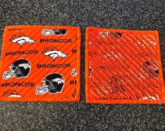 Chenille Potholder Sets - Denver Broncos