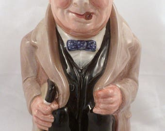 """Large 9"""" Height Royal Doulton Winston Churchill Toby Jug, Excellent Condition"""