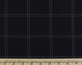 "Windowpane Plaid Stretch Suiting Fabric Fabric ""HVNX3P-1620"""