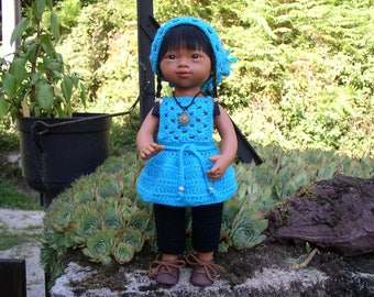 dress apron, Capri pants and kerchief for Marietta