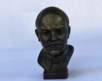 Vintage Iron Bust Vladimir Lenin Soviet Russia