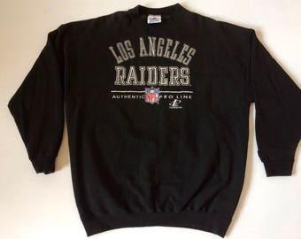 Rare Vintage LA Los Angeles Raiders 1990s Embroidered Sweatshirt Size XL