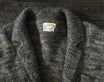 Vintage Christian Dior Wool Cardigan, Vintage Designer Sweater