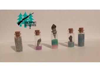 Glass Bottle Seashell Set