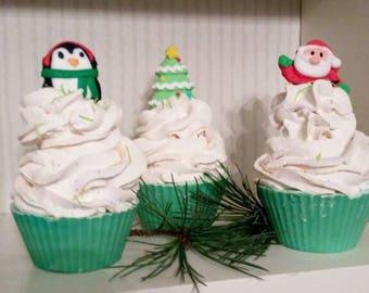 Christmas soap,soap cupcake