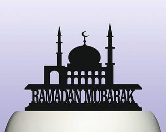 Acrylic Ramadan Mubarak Cake Topper