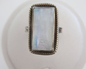 Rainbow Moonstone Ring Size 9.5