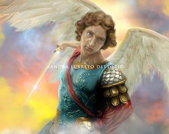 "St. Michael, Archangel, Catholic Art, 8x10"" Art Print, wall decor"