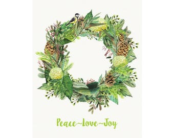 Fresh Forest Christmas Poster - Downloadable Print