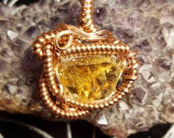 Honey Optical Calcite Pendant