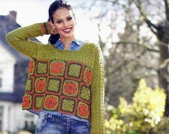 Multicolored sweater with a single hook / custom