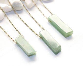 Heart Chakra Necklace, Green Aventurine Necklace, Green Stone Necklace, Gemstone Necklace, Chakra Jewelry, Chakra Healing Necklace
