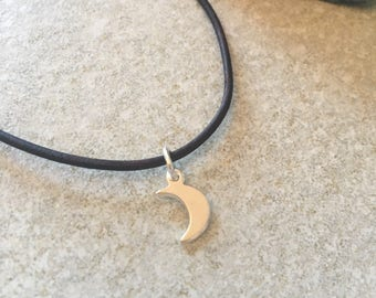 Moon choker , cresent moon , moon necklace